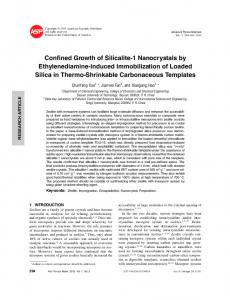 Confined Growth of Silicalite-1 Nanocrystals by
