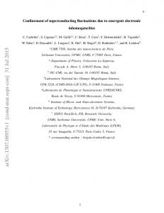 Confinement of superconducting fluctuations due to emergent ...