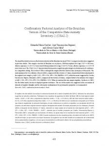Confirmatory Factorial Analysis of the Brazilian ...