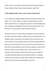 Conflict begetting conflict Conference Paper 4