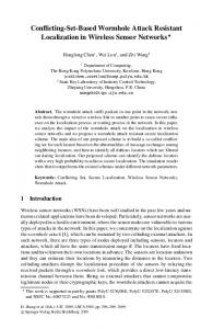 Conflicting-Set-Based Wormhole Attack Resistant ... - Springer Link
