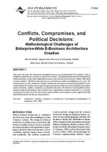 Conflicts, Compromises, and Political Decisions - Semantic Scholar