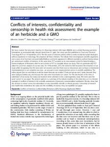 Conflicts of interests, confidentiality and ... - Semantic Scholar