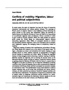 Conflicts of mobility: Migration, labour and political ... - Springer Link