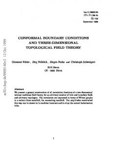 CONFORMAL BOUNDARY CONDITIONS AND THREE ...