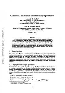 Conformal extensions for stationary spacetimes
