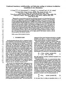 Conformal invariance, multifractality, and finite-size scaling at ...