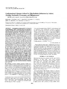 Conformational Changes Induced in Dihydrofolate Reductase by ...