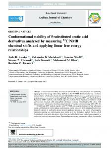 Conformational stability of 5-substituted orotic acid derivatives ... - Core