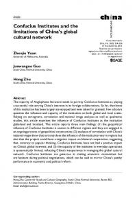 Confucius Institutes and the limitations of China's ... - SAGE Journals