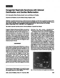 Congenital Nephrotic Syndrome with Adrenal Calcification ... - medIND