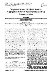 Congestion Aware Multipath Routing: Aggregation Network ...