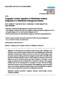 Congestion Control Algorithm in Distribution Feeders - project increase
