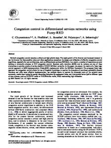 Congestion control in differentiated services ... - Semantic Scholar