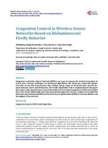 Congestion Control in Wireless Sensor Networks Based on ...