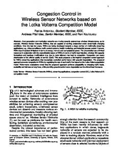 Congestion Control in Wireless Sensor Networks based on the Lotka ...