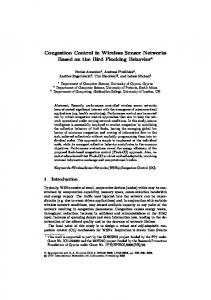 Congestion Control in Wireless Sensor Networks ... - Springer Link