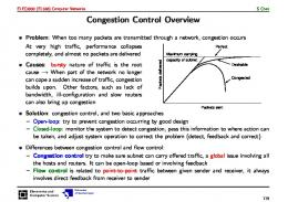 Congestion Control Overview