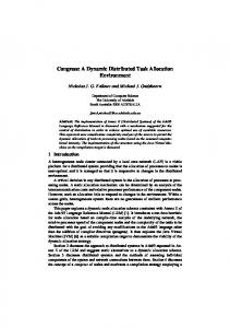 Congress: A Dynamic Distributed Task Allocation ... - CiteSeerX