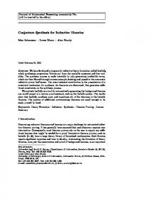 Conjecture Synthesis for Inductive Theories - Mathematical Reasoning ...