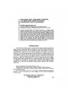 CONJUGATE HEAT AND MASS TRANSFER IN A ... - Penn Engineering
