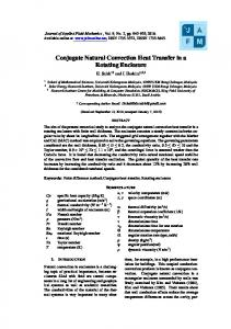 Conjugate Natural Convection Heat Transfer in a Rotating Enclosure