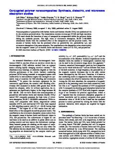 Conjugated polymer nanocomposites: Synthesis ...