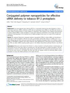 Conjugated polymer nanoparticles for effective siRNA delivery to ...