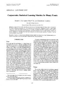Conjunctoids: Statistical Learning Modules for Binary Events