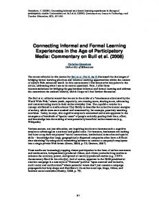 Connecting Informal and Formal Learning ... - Amazon AWS