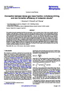 Connection between dense gas mass fraction, turbulence driving, and