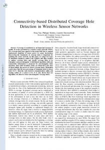 Connectivity-based Distributed Coverage Hole ... - Semantic Scholar