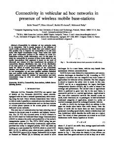 Connectivity in vehicular ad hoc networks in presence of wireless ...