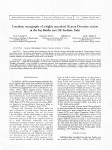 Conodont stratigraphy of a highly tectonised Silurian-Devonian ...