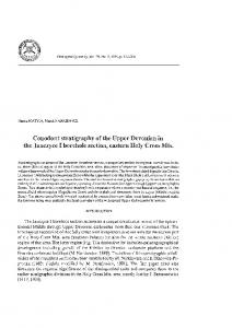 Conodont stratigraphy of the Upper Devonian in the Janczyce I ...