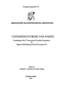 conodonts from the andes