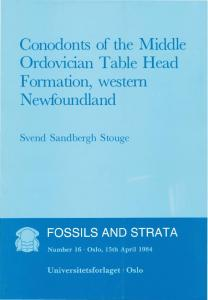 Conodonts of the Middle Ordovician Table Head ... - Foreninger ved UiO