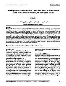 Consanguinity Associated with Child and Adult Mortality in ... - CiteSeerX