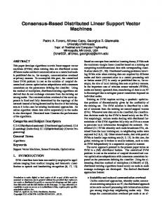 Consensus-Based Distributed Linear Support ... - Semantic Scholar