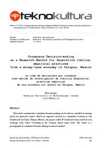 Consensus Decision-making as a Research Method for Generative ...