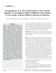 Consequences of ex situ Conservation on the Genetic Integrity of ...
