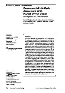 Consequential Life Cycle Assessment With MarketDriven Design
