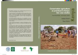 Conservation agriculture as practised in Kenya: two case studies
