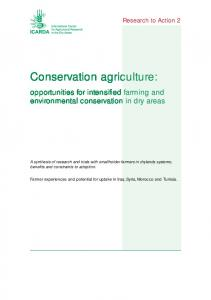 Conservation agriculture - ICARDA Corporate Systems
