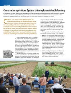 Conservation agriculture: Systems thinking for sustainable farming