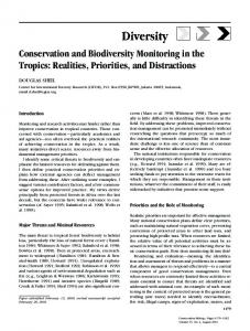 Conservation and Biodiversity Monitoring in the