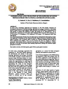 conservation and utilization of wild species of genus triticum from the ...