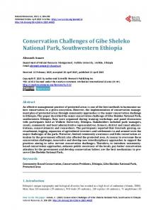 Conservation Challenges of Gibe Sheleko National Park ...