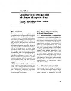 Conservation consequences of climate change for birds