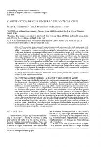 conservation design: where do we go from here? - Central Hardwoods